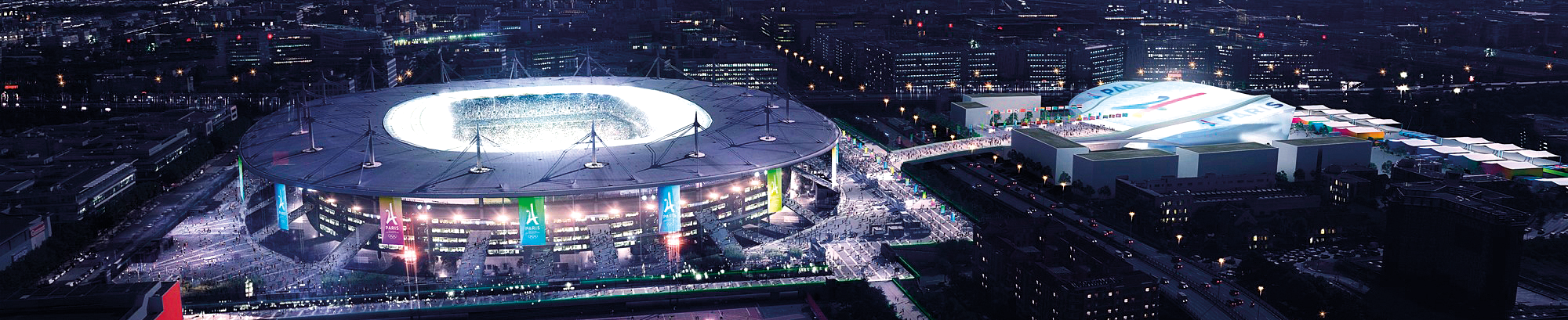 Stade de France et Centre aquatique olympique Paris 2024